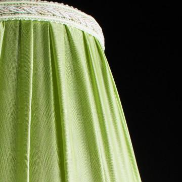 Arte Lamp Veil A3082LM-5WG, 5xE14x60W, бежевый, зеленый, прозрачный, металл, текстиль, хрусталь - миниатюра 3