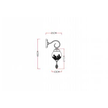 Схема с размерами Arte Lamp A4552AP-1GO