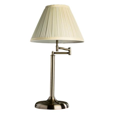 Настольная лампа Arte Lamp California A2872LT-1AB, 1xE27x60W, бронза, бежевый, металл, текстиль