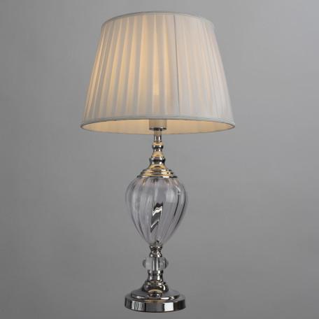 Настольная лампа Arte Lamp Superb A3752LT-1WH, 1xE27x60W, прозрачный, хром, белый, стекло, текстиль - миниатюра 2