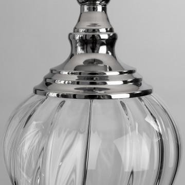 Настольная лампа Arte Lamp Superb A3752LT-1WH, 1xE27x60W, прозрачный, хром, белый, стекло, текстиль - миниатюра 3