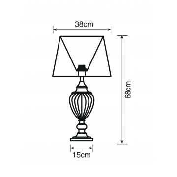 Схема с размерами Arte Lamp A3752LT-1WH
