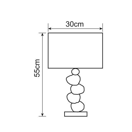 Схема с размерами Arte Lamp A4610LT-1CC