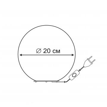 Схема с размерами Arte Lamp A6020LT-1WH