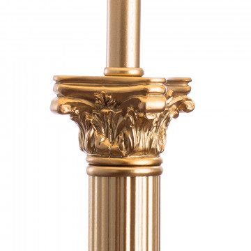 Настольная лампа Arte Lamp Budapest A9185LT-1SG, 1xE27x40W, матовое золото, бежевый, золото, металл, пластик, текстиль - миниатюра 4