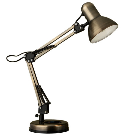 Настольная лампа Arte Lamp Junior A1330LT-1AB, 1xE27x40W, бронза, металл