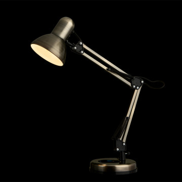 Настольная лампа Arte Lamp Junior A1330LT-1AB, 1xE27x40W, бронза, металл - миниатюра 2