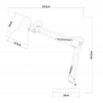 Схема с размерами Arte Lamp A1330LT-1AB