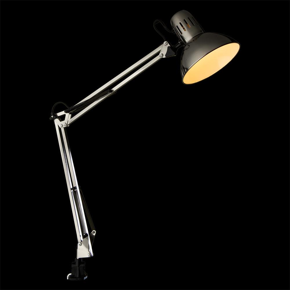Настольная лампа Arte Lamp Senior A6068LT-1SS, 1xE27x40W, серебро, металл - фото 2