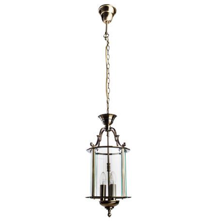 Подвесная люстра Arte Lamp Rimini A6503SP-3AB, 3xE14x60W, бронза, прозрачный, металл, металл со стеклом