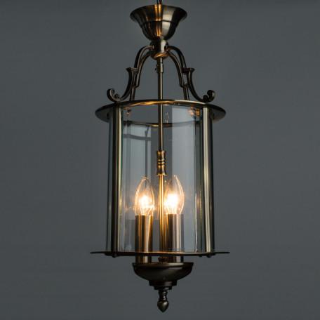 Подвесная люстра Arte Lamp Rimini A6503SP-3AB, 3xE14x60W, бронза, прозрачный, металл, металл со стеклом - миниатюра 2