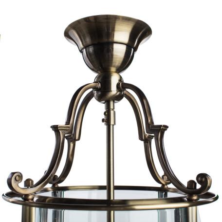 Подвесная люстра Arte Lamp Rimini A6503SP-3AB, 3xE14x60W, бронза, прозрачный, металл, металл со стеклом - миниатюра 3