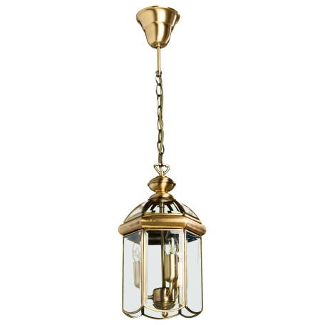 Подвесная люстра Arte Lamp Rimini A6505SP-3AB, 3xE14x60W, бронза, прозрачный, металл, металл со стеклом