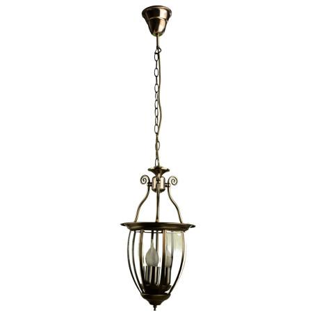 Подвесная люстра Arte Lamp Rimini A6509SP-3AB, 3xE14x60W, бронза, прозрачный, металл, металл со стеклом