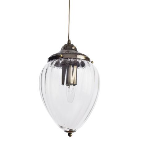 Подвесной светильник Arte Lamp Rimini A1091SP-1AB, 1xE27x60W, бронза, прозрачный, металл, стекло