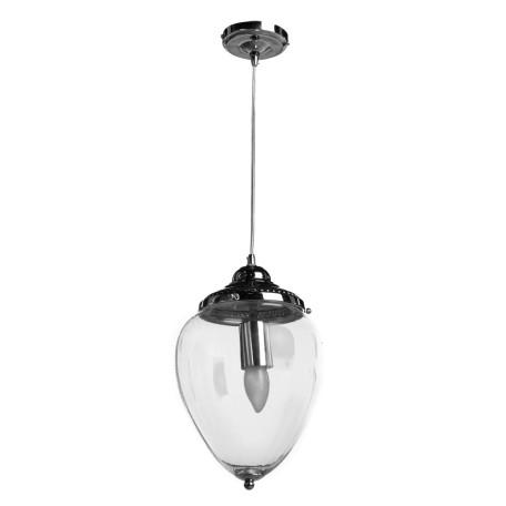 Подвесной светильник Arte Lamp Rimini A1091SP-1CC, 1xE27x60W, хром, прозрачный, металл, стекло