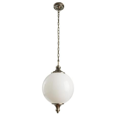 Подвесной светильник Arte Lamp Rimini A3051SP-1AB, 1xE27x40W, бронза, белый, металл, стекло