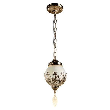 Подвесной светильник Arte Lamp Moroccana A4552SP-1GO, 1xE27x60W, золото, металл, стекло