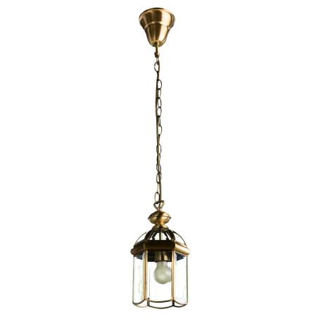 Подвесной светильник Arte Lamp Rimini A6501SP-1AB, 1xE27x100W, бронза, прозрачный, металл, металл со стеклом