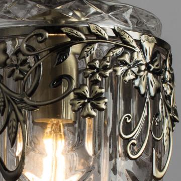 Подвесной светильник Arte Lamp Brocca A9147SP-1AB, 1xE14x40W, бронза, прозрачный, металл, стекло - миниатюра 3