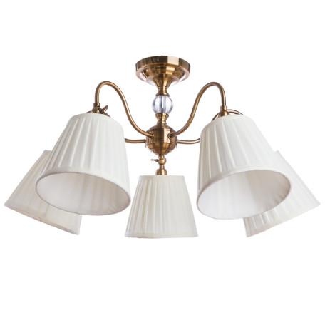 Потолочная люстра с регулировкой направления света Arte Lamp Seville A1509PL-5PB, 5xE14x40W, медь, белый, металл, текстиль