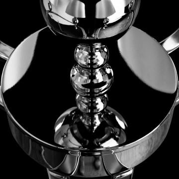 Потолочно-подвесная люстра Arte Lamp Promessa A3074LM-6CC, 6xE14x40W, хром, бежевый, прозрачный, металл, текстиль, хрусталь - миниатюра 6