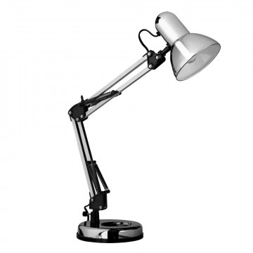 Настольная лампа Arte Lamp Junior A1330LT-1CC, 1xE27x40W, хром, металл