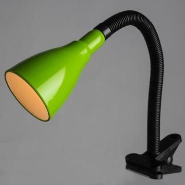 Светильник на прищепке Arte Lamp Cord A1210LT-1GR, 1xE14x40W, черный, зеленый, пластик, металл