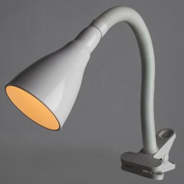 Светильник на прищепке Arte Lamp Cord A1210LT-1WH, 1xE14x40W, белый, пластик, металл