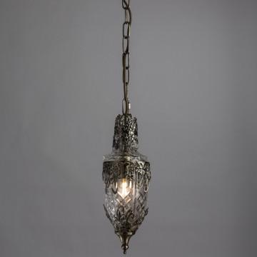 Подвесная люстра Arte Lamp Brocca A9147SP-1AB, 1xE14x40W, бронза, прозрачный, металл, стекло