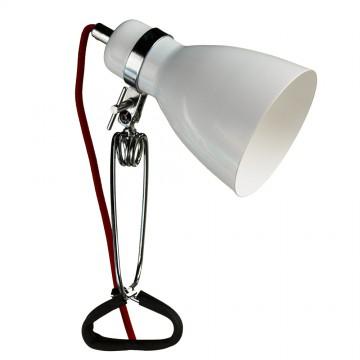 Настольная лампа Arte Lamp Dorm A1409LT-1WH, 1xE14x40W, хром, красный, белый, металл