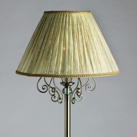 Торшер Arte Lamp Charm A2083PN-1AB, 1xE27x60W, бронза, бежевый, металл с хрусталем, текстиль - миниатюра 3