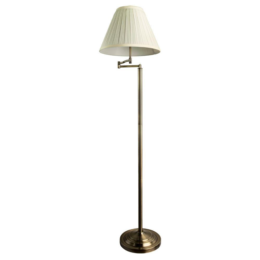 Торшер Arte Lamp California A2872PN-1AB, 1xE27x100W, бронза, бежевый, металл, текстиль - фото 1