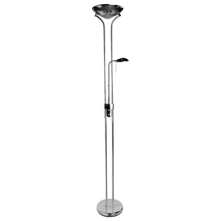 Торшер Arte Lamp Duetto A4329PN-2CC, 1xR7S118mmx230W +  1xG9x33W, хром, металл, стекло