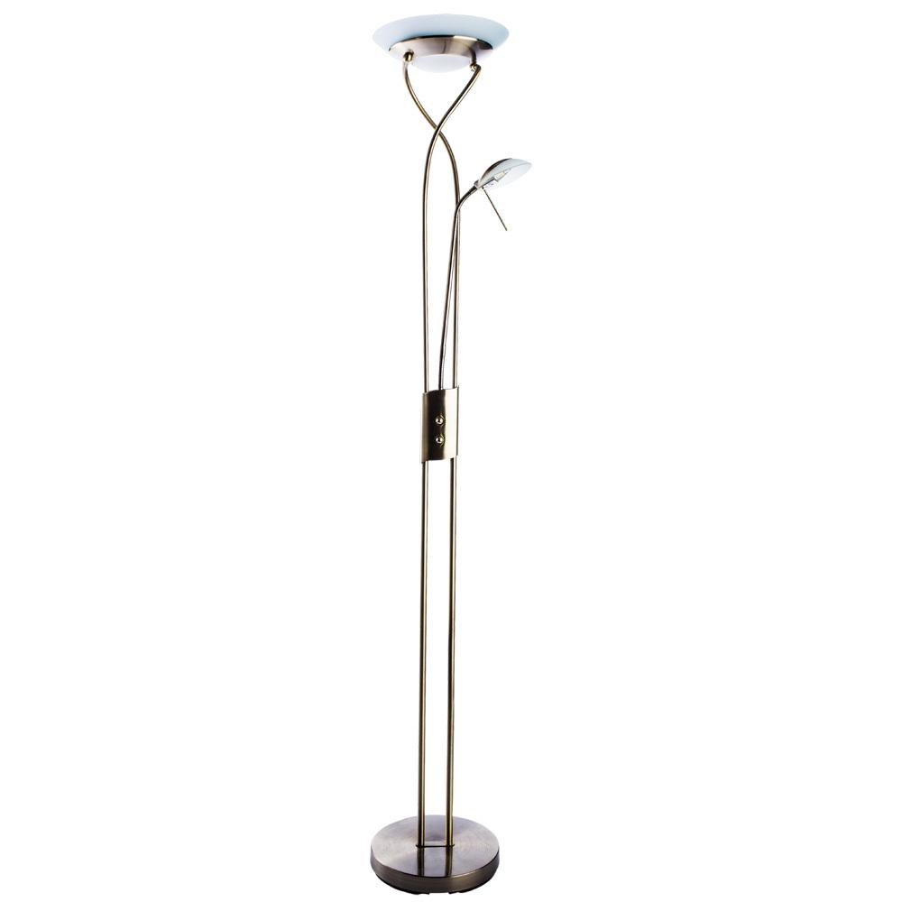 Торшер Arte Lamp Duetto A4399PN-2AB, 1xR7S118mmx230W + 1xG9x33W, бронза, металл, металл со стеклом - фото 1