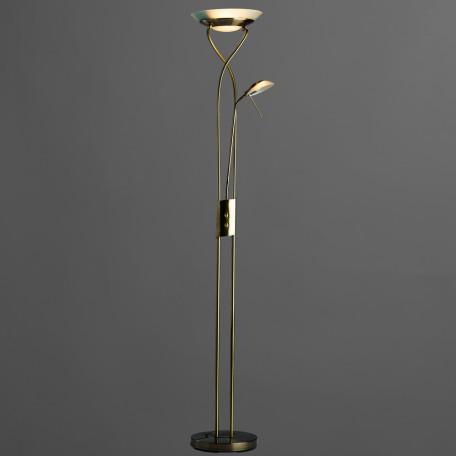 Торшер Arte Lamp Duetto A4399PN-2AB, 1xR7S118mmx230W + 1xG9x33W, бронза, металл, металл со стеклом - миниатюра 2