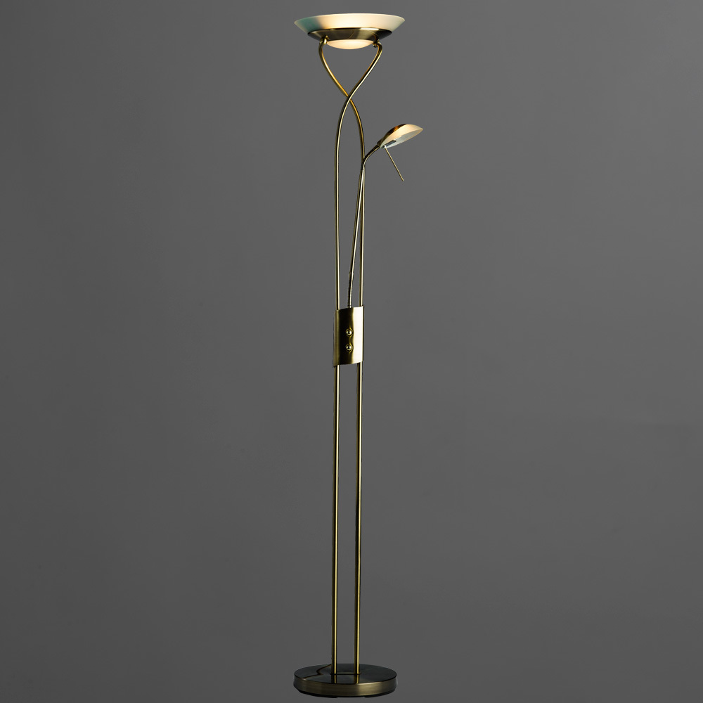 Торшер Arte Lamp Duetto A4399PN-2AB, 1xR7S118mmx230W + 1xG9x33W, бронза, металл, металл со стеклом - фото 2