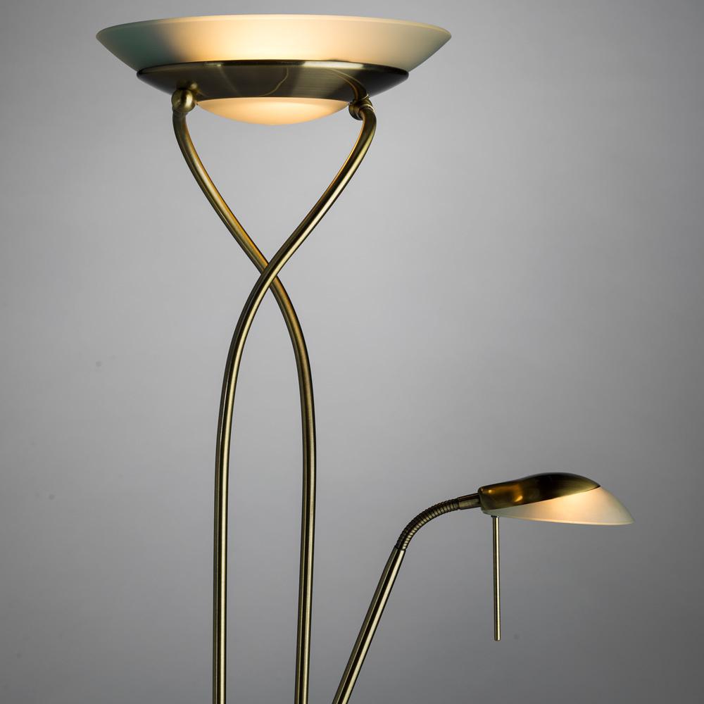 Торшер Arte Lamp Duetto A4399PN-2AB, 1xR7S118mmx230W + 1xG9x33W, бронза, металл, металл со стеклом - фото 3
