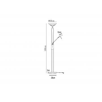 Схема с размерами Arte Lamp A4399PN-2AB