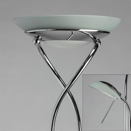 Торшер Arte Lamp Duetto A4399PN-2CC, 1xR7S118mmx230W + 1xG9x33W, хром, металл, металл со стеклом - миниатюра 3