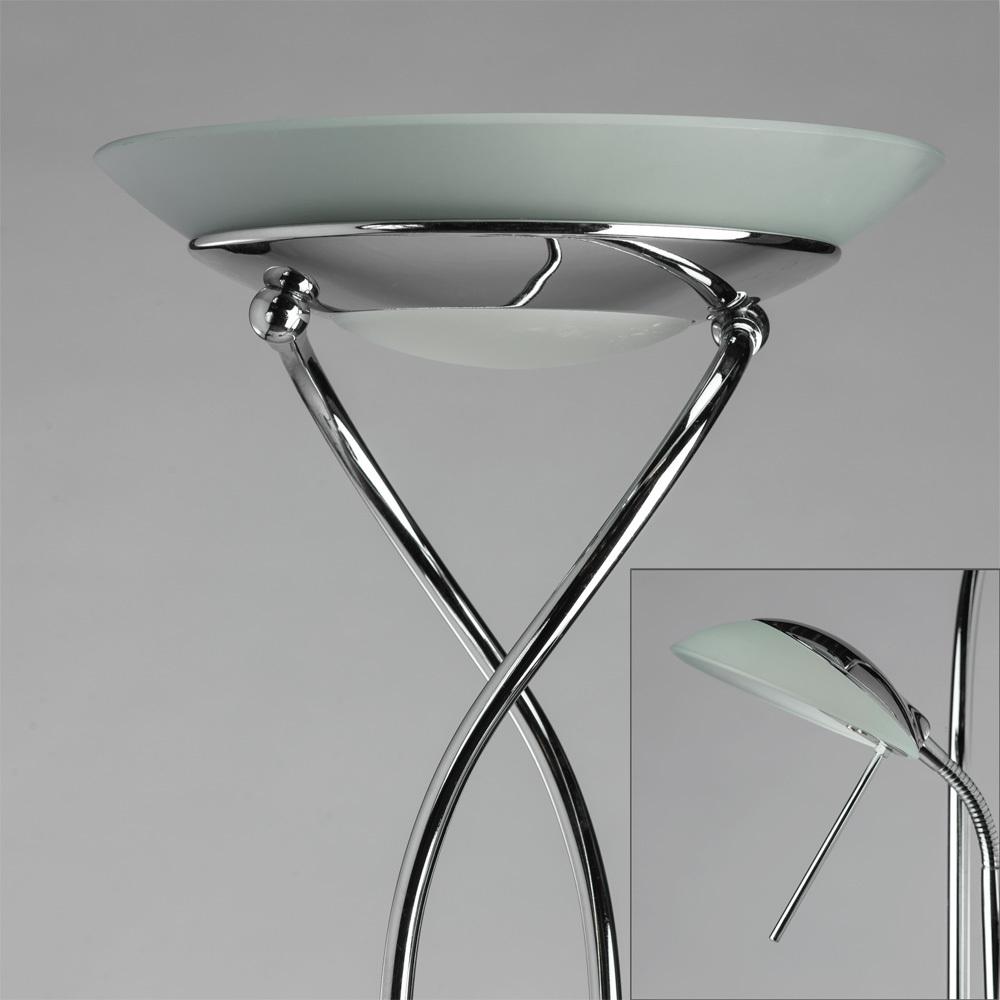 Торшер Arte Lamp Duetto A4399PN-2CC, 1xR7S118mmx230W + 1xG9x33W, хром, металл, металл со стеклом - фото 3