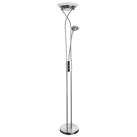Торшер Arte Lamp Duetto A4399PN-2SS, 1xR7S118mmx230W +  1xG9x33W, серебро, металл, металл со стеклом