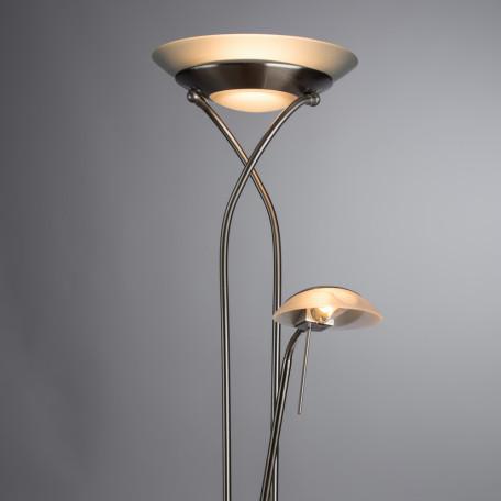 Торшер Arte Lamp Duetto A4399PN-2SS, 1xR7S118mmx230W + 1xG9x33W, серебро, металл, металл со стеклом - миниатюра 2