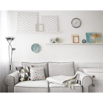 Торшер Arte Lamp Duetto A4399PN-2SS, 1xR7S118mmx230W +  1xG9x33W, серебро, белый, металл, стекло - миниатюра 2