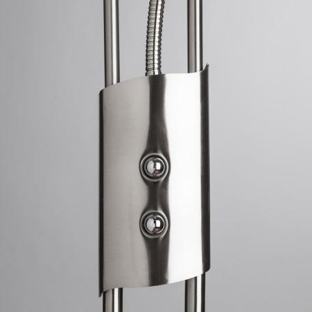 Торшер Arte Lamp Duetto A4399PN-2SS, 1xR7S118mmx230W +  1xG9x33W, серебро, белый, металл, стекло - миниатюра 4