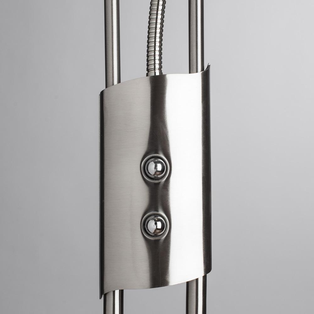 Торшер Arte Lamp Duetto A4399PN-2SS, 1xR7S118mmx230W + 1xG9x33W, серебро, металл, металл со стеклом - фото 4