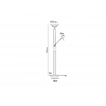 Схема с размерами Arte Lamp A4399PN-2SS
