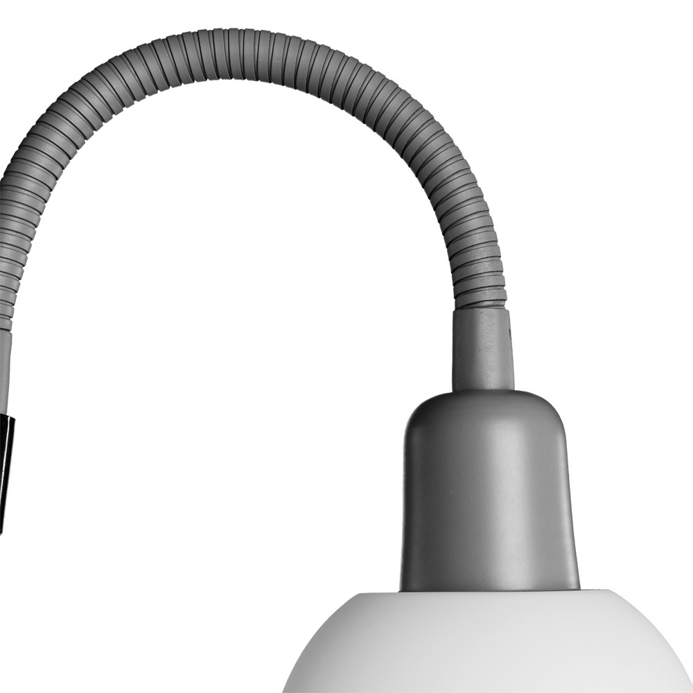 Торшер Arte Lamp Duetto A9569PN-2SI, 1xE27x60W + 1xE14x25W, серебро, белый, металл, пластик - фото 4