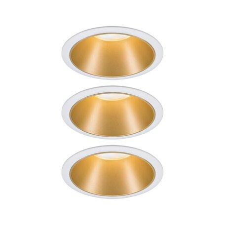 Встраиваемый светодиодный светильник Paulmann Coin 3StepDim 93406, IP44, LED 6,5W, матовое золото, металл