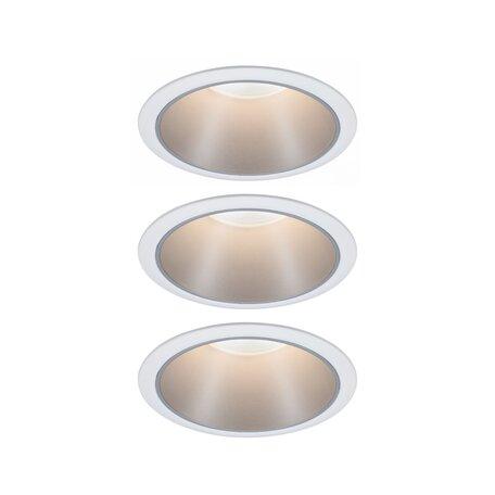Встраиваемый светодиодный светильник Paulmann Coin 3StepDim 93410, IP44, LED 6,5W, серебро, металл